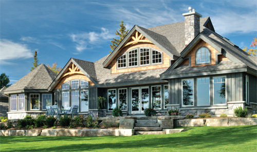 Homes of distinction waters edge estates on beautiful for Award winning lakefront house plans